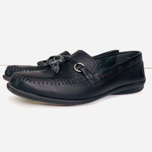 ECCO BLACK FLAT LOAFERS